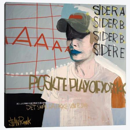 Sider A Canvas Print #PNK7} by Sean Punk Canvas Wall Art