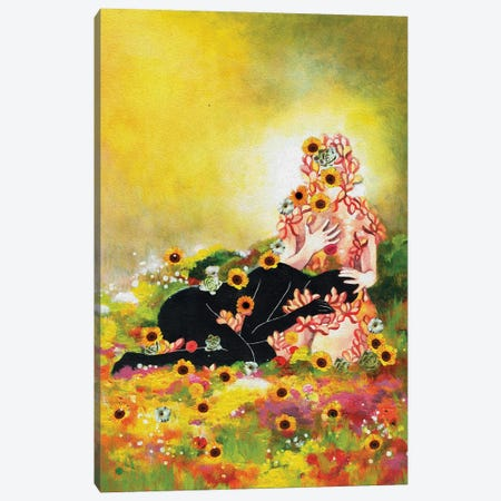 Healing My Younger Self Canvas Print #PNY46} by Pride Nyasha Canvas Wall Art