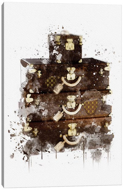 LV Luvagge Canvas Art Print