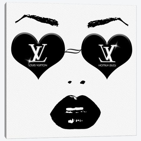 Original LV Fashion Face Monochrome Canvas Print #POB142} by Pomaikai Barron Canvas Print