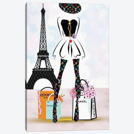 Paris Fashion Shopping Girl_Lv Canvas Print #POB143} by Pomaikai Barron Canvas Art Print