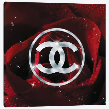 Red Rose Fashion II Canvas Print #POB148} by Pomaikai Barron Canvas Art Print