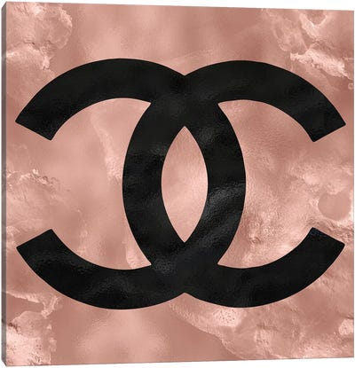 Rose Gold And Black Fashion I Canvas Art Print