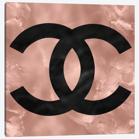 Rose Gold And Black Fashion I Canvas Print #POB153} by Pomaikai Barron Canvas Wall Art