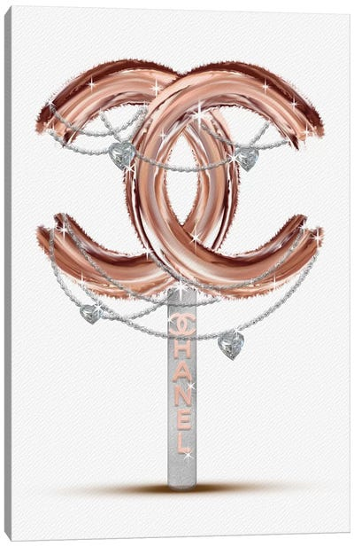 Rose Gold Bling Fashion Lollipop Canvas Art Print