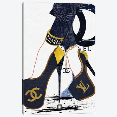 Talk To The Heels_Blue Canvas Print #POB170} by Pomaikai Barron Canvas Art