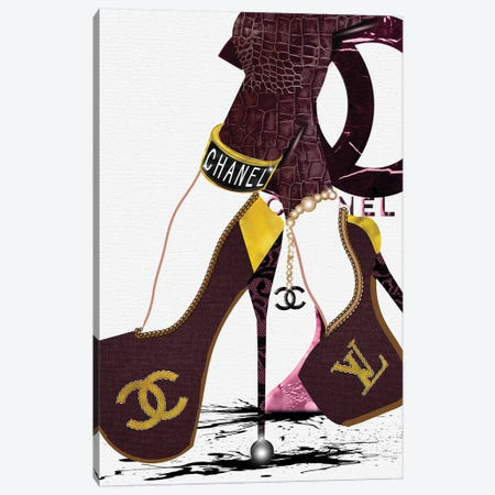 Talk To The Heels_Red Canvas Print #POB172} by Pomaikai Barron Canvas Wall Art