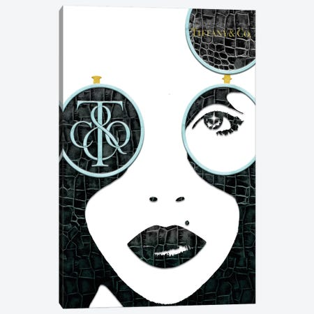 Tiff Fashion Face (2) Canvas Print #POB180} by Pomaikai Barron Art Print
