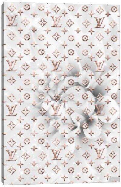White Dahlia Fashion III Canvas Art Print