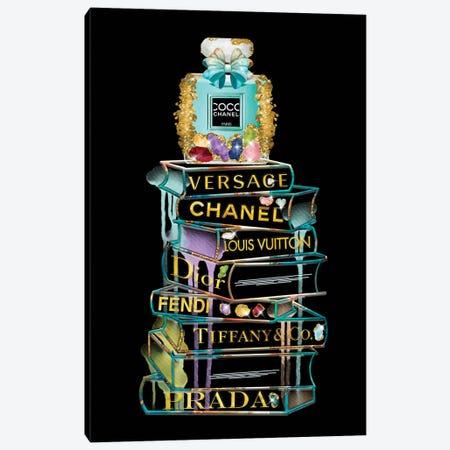 Gems Fashion Books and Perfume Canvas Print #POB223} by Pomaikai Barron Canvas Wall Art