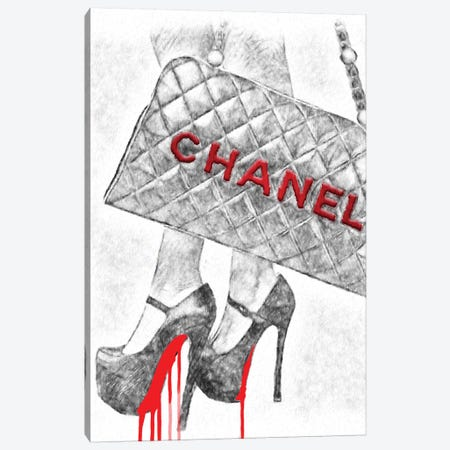 It's All About The High Heels And Bag Canvas Print #POB224} by Pomaikai Barron Canvas Print
