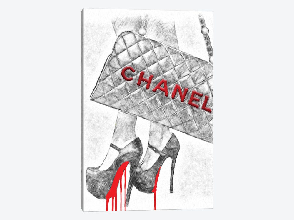It's All About The High Heels And Bag by Pomaikai Barron 1-piece Canvas Art Print