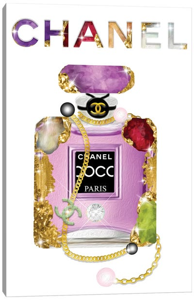It's All About The Jewels Fashion Perfume Bottle Canvas Art Print
