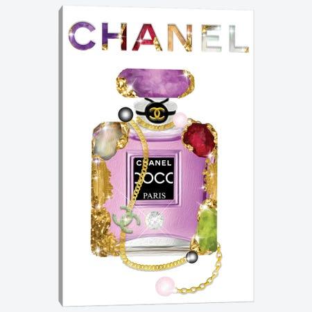 It's All About The Jewels Fashion Perfume Bottle Canvas Print #POB225} by Pomaikai Barron Canvas Art Print