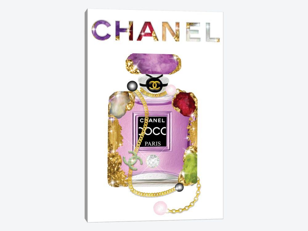 It's All About The Jewels Fashion Perfume Bottle by Pomaikai Barron 1-piece Canvas Art