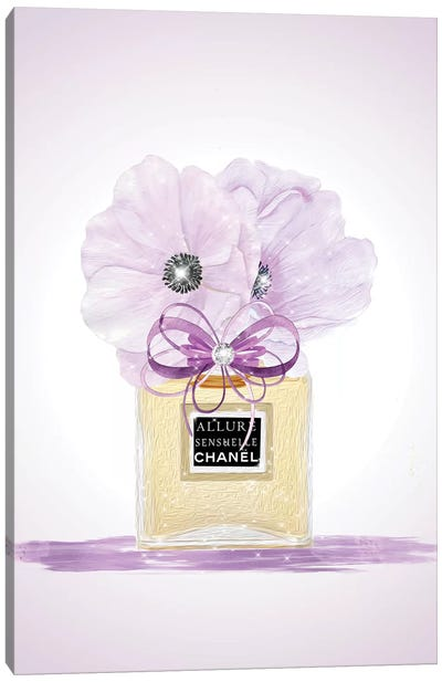 Purple Fashion Perfume Vase Canvas Art Print