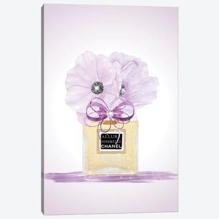 Purple Fashion Perfume Vase Canvas Print #POB229} by Pomaikai Barron Canvas Wall Art