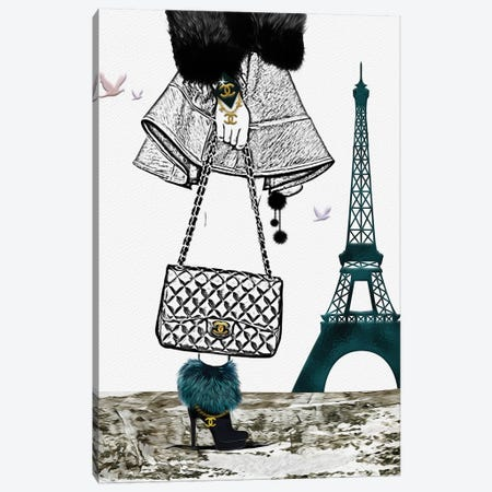 Bonjour, Paris I Canvas Print #POB22} by Pomaikai Barron Canvas Art Print
