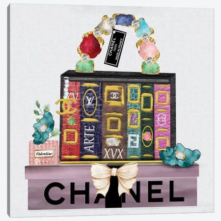 Made In France Fashion Book Bag And Gift Box Canvas Print #POB233} by Pomaikai Barron Canvas Art Print