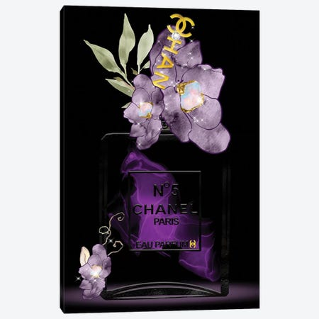 Shades Of Purple Fashion Perfume Bottle Canvas Print #POB238} by Pomaikai Barron Canvas Print