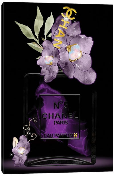 Shades Of Purple Fashion Perfume Bottle Canvas Art Print