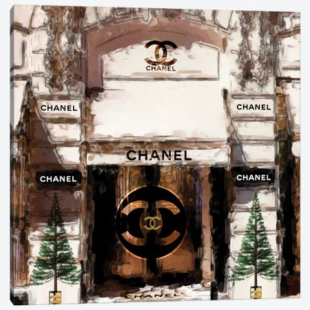 Paris Fashion Store Front Canvas Print #POB242} by Pomaikai Barron Canvas Wall Art