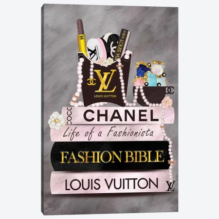 Life Of A Fashionista Fashion Book Stack Canvas Print #POB244} by Pomaikai Barron Canvas Print