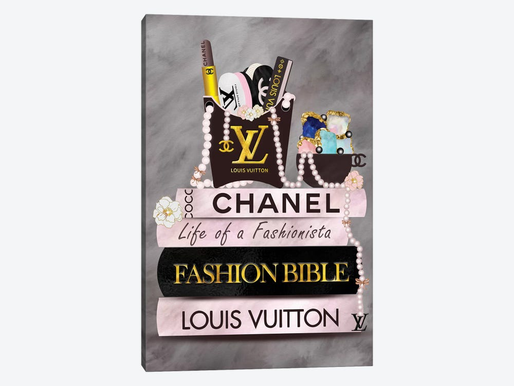 Life Of A Fashionista Fashion Book Stack by Pomaikai Barron 1-piece Canvas Art Print