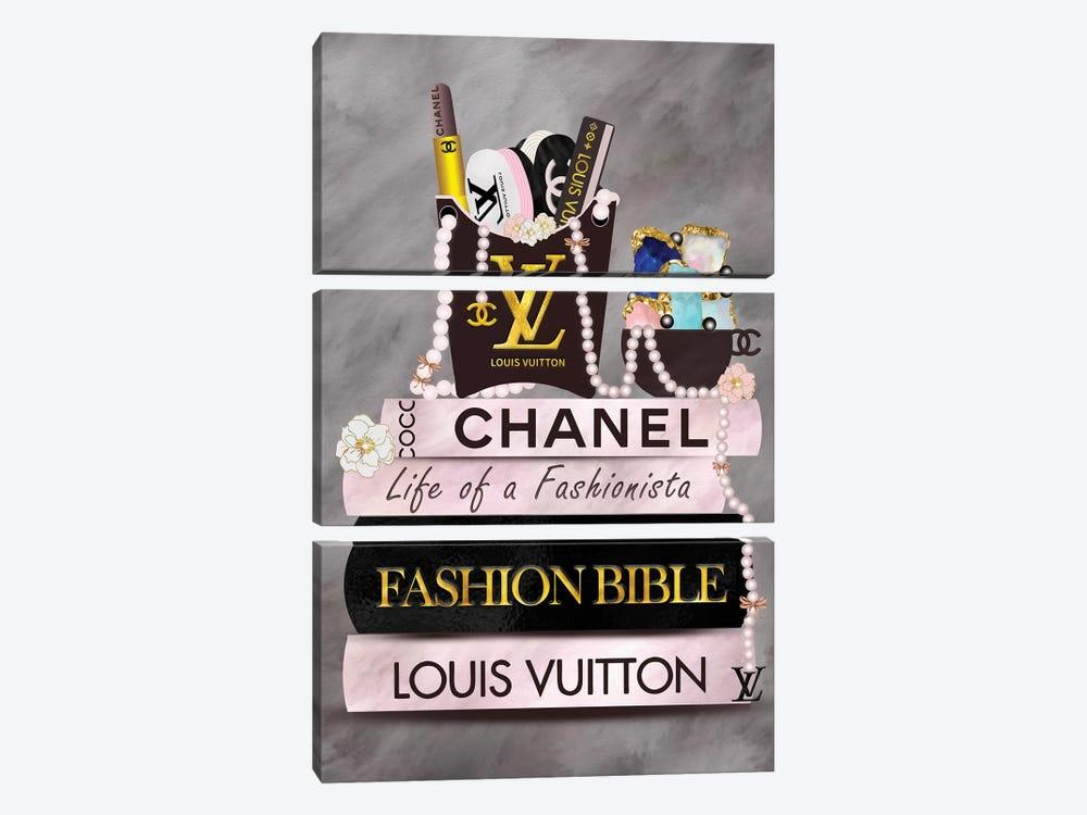 Life Of A Fashionista Fashion Book Stack by Pomaikai Barron 3-piece Art Print