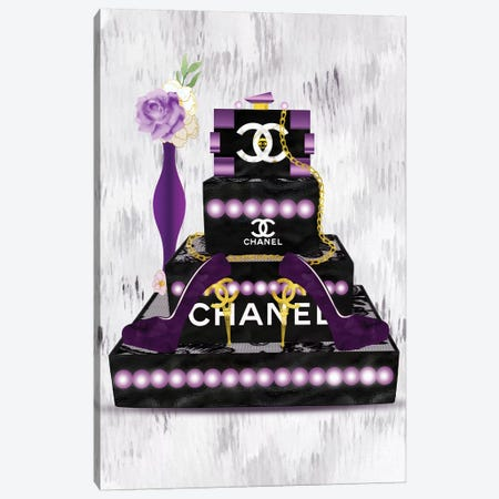 Purple Fashion Lego Clutch And Eiffel Tower High Heels Canvas Print #POB247} by Pomaikai Barron Canvas Art Print