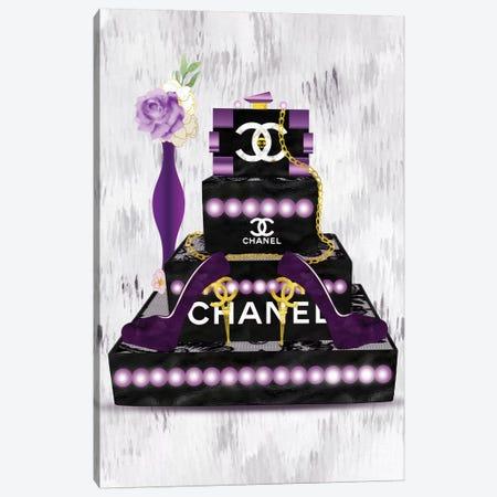 Purple Fashion Lego Clutch And Eiffel Tower High Heels Canvas Print #POB247} by Pomaikai Barron Canvas Art Print