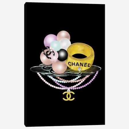 Diamonds Gold And Pearls Fashion Bling Canvas Print #POB248} by Pomaikai Barron Canvas Art