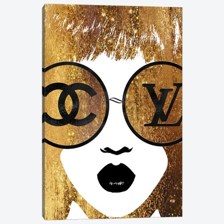 Bronzed And Burnt Dual Miss Fashion Face 3-Piece Canvas #POB24} by Pomaikai Barron Canvas Art