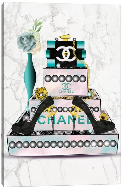 Fashion Jewelry Box, Lego Clutch And High Heels Canvas Art Print