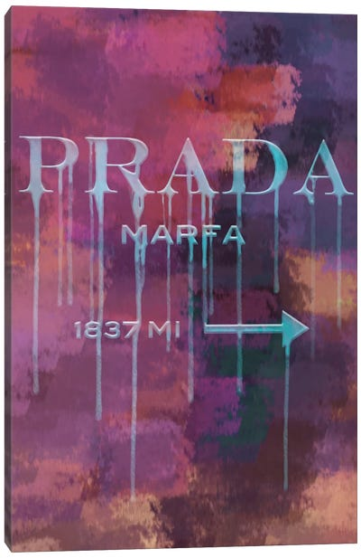 1837 Miles To Go...Get Your Fashion! Canvas Art Print