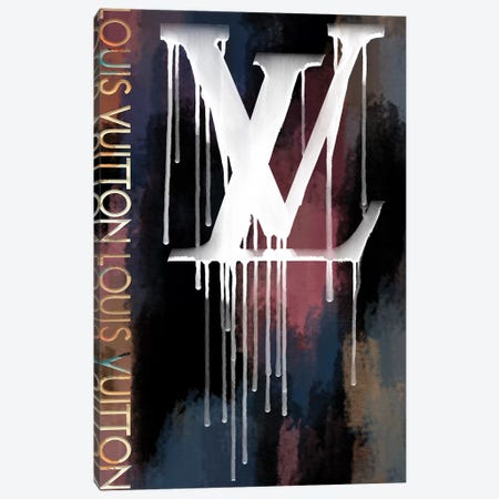 Grunged And Dripping LV II Canvas Print #POB259} by Pomaikai Barron Canvas Art Print
