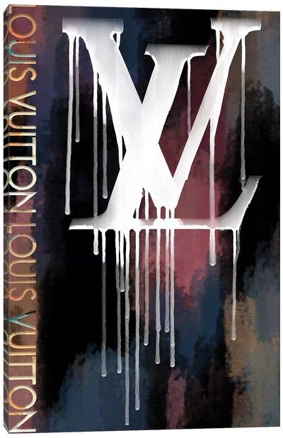 Grunged And Dripping LV II Canvas Art Print