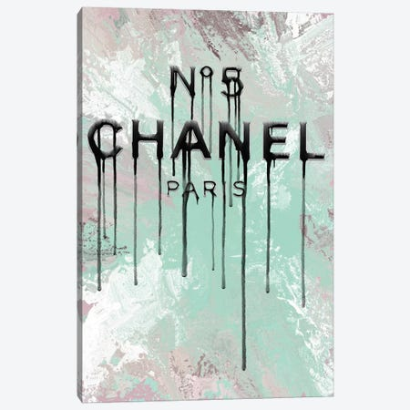 Fashion No5 Mint Mix Dripping Canvas Print #POB261} by Pomaikai Barron Canvas Wall Art