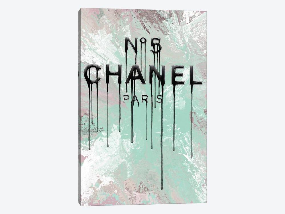 Fashion No5 Mint Mix Dripping by Pomaikai Barron 1-piece Canvas Artwork