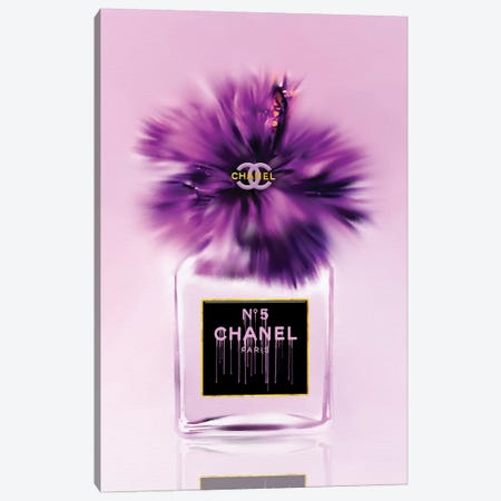 Passionately Purple Fashion Perfume Bottle Canvas Print #POB265} by Pomaikai Barron Canvas Print