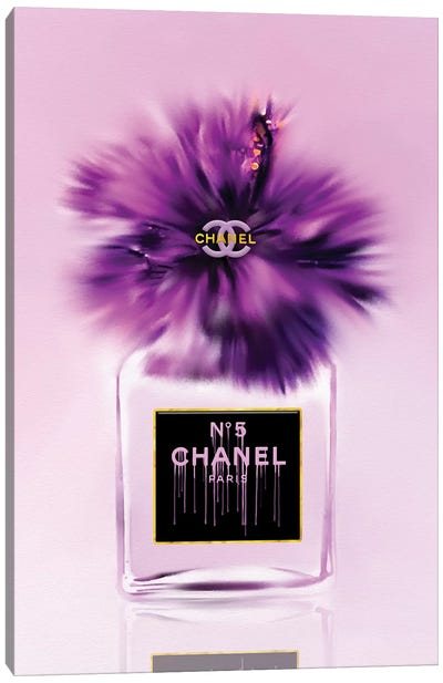 Passionately Purple Fashion Perfume Bottle Canvas Art Print