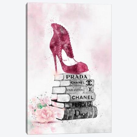 Bubu High Heel On Book Stack Canvas Print #POB26} by Pomaikai Barron Canvas Art