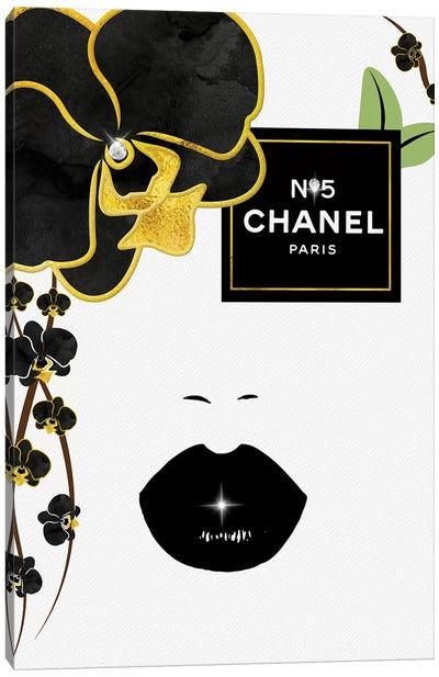 N05 Black & Gold Orchid Eye Fashion Face Canvas Art Print