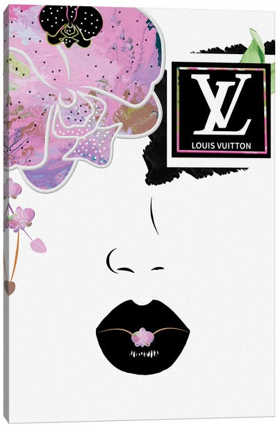 Pink Razzle Orchid Eye Fashion Face Canvas Art Print