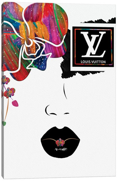 Blinding Orchid Eye Fashion Face Canvas Art Print