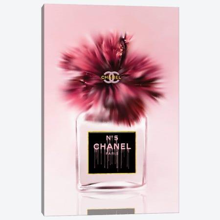 Deeply Blushed Fashion Perfume Bottle & Hibiscus Canvas Print #POB286} by Pomaikai Barron Canvas Print