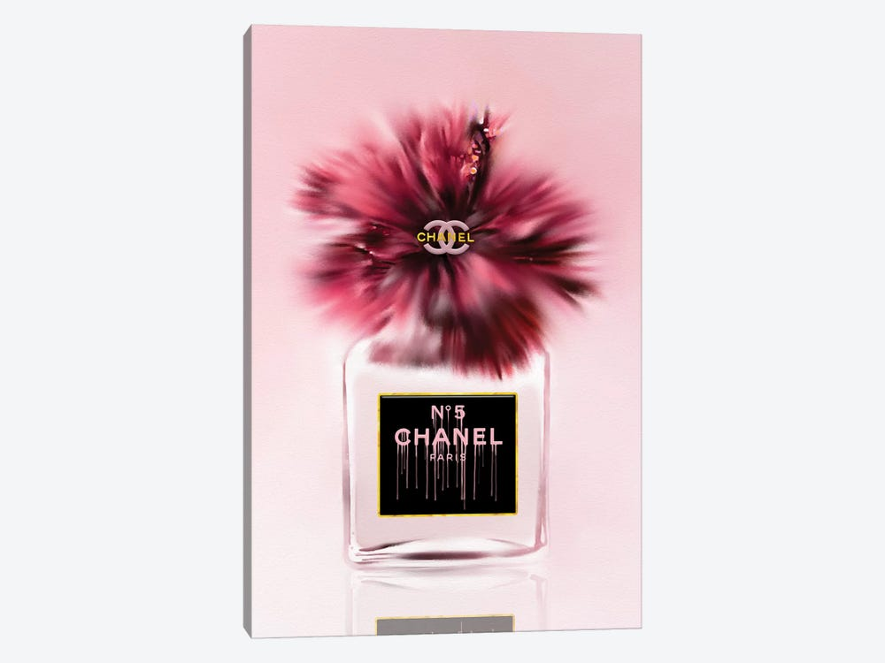 Deeply Blushed Fashion Perfume Bottle & Hibiscus by Pomaikai Barron 1-piece Art Print