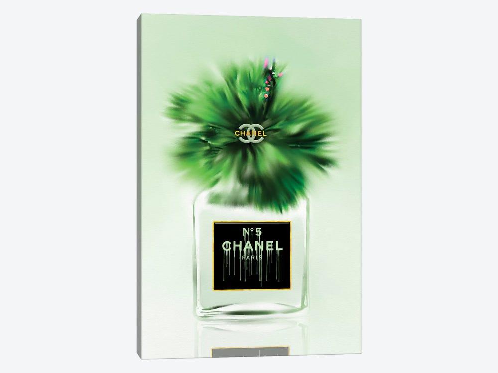 Green Dreams Fashion Perfume Bottle & Hibiscus by Pomaikai Barron 1-piece Canvas Art