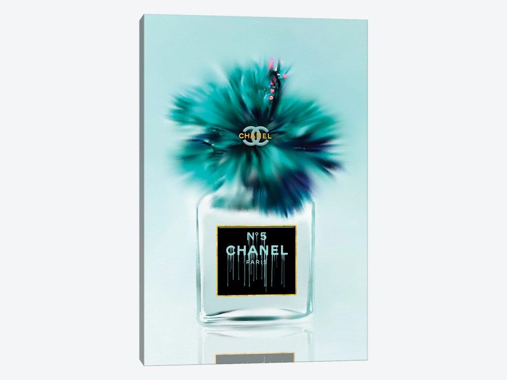 Tickle My Turquoise Fashion Perfume Bottle & Hibiscus by Pomaikai Barron 1-piece Art Print