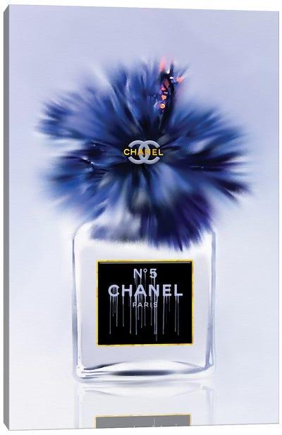 Little Bottle Blue Fashion Perfume Vase Canvas Art Print